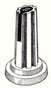 zuil-losstaand